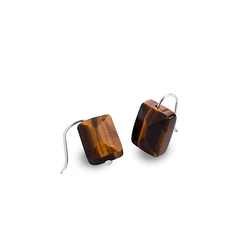 Tiger's Eye Gemstone Drop Earrings