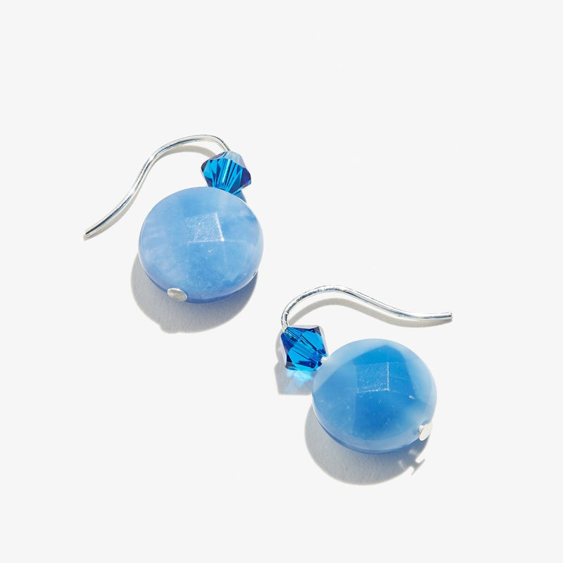 Quartz Denim Gemstone Drop Earrings