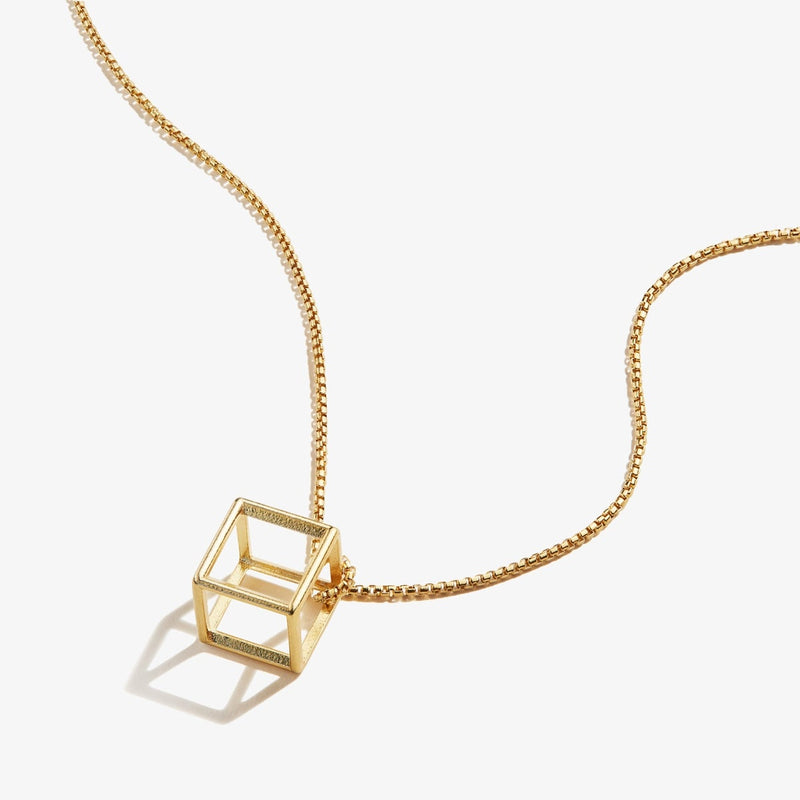 3D Square Necklace