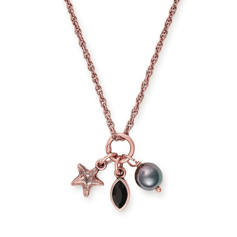 Starfish Trio Charm Necklace