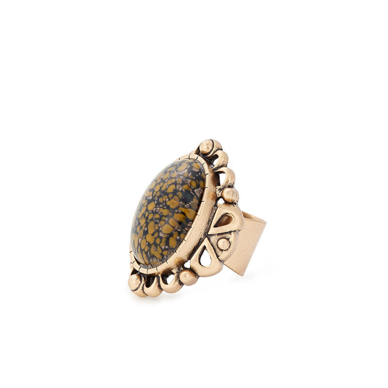 Honey Matrix Cocktail Ring