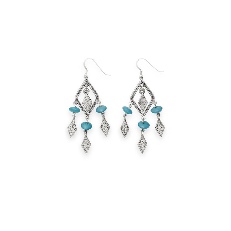 Deep Ocean Spearhead Earrings