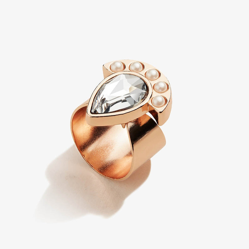Pearl & Crystal Cocktail Ring