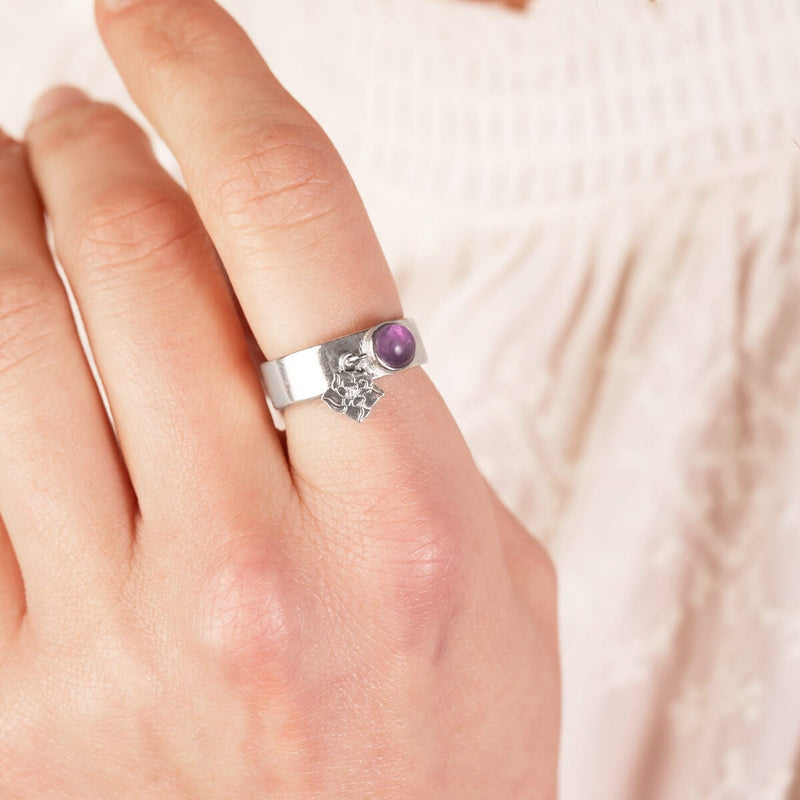 Wildflower Charm Ring