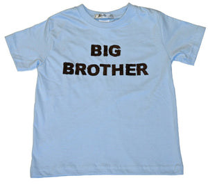 """Big Brother"" short sleeve light blue tee shirt"