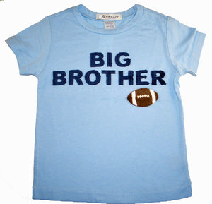 """Big Brother"" football short sleeve light blue tee shirt"