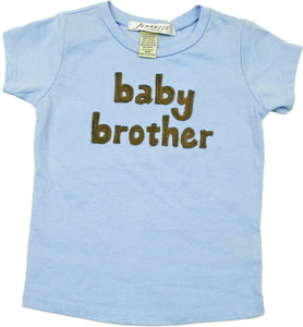 """Baby Brother"" short sleeve light blue tee shirt"