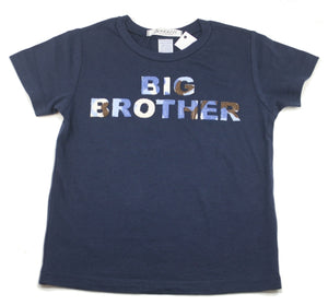 """Big Brother"" blue camo short sleeve navy tee shirt"