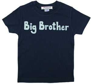 """Big Brother"" short sleeve navy tee shirt"