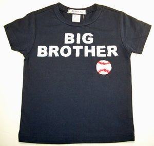 """Big Brother"" with baseball short sleeve navy tee shirt"