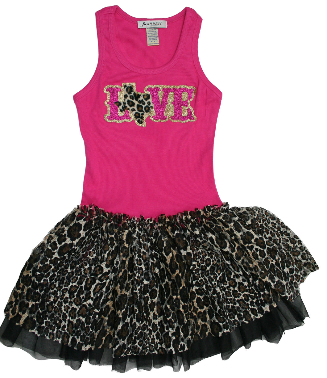LOVE Texas Cheetah Tutu Tank