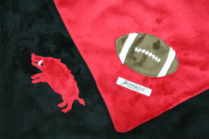 Razorback & Football Minky Blanket