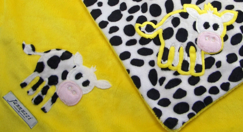 Cows Minky Baby Blanket