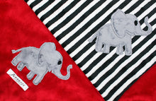 Load image into Gallery viewer, Elephant Minky Baby Blanket