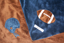 Load image into Gallery viewer, Football Helmet & Football Minky Blanket