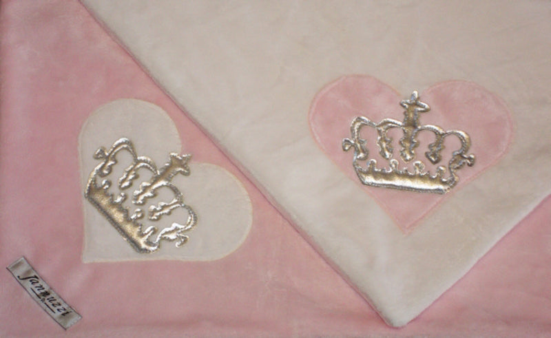 Heart & Royal Crown Minky Blanket