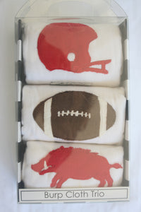 Burp Trio - Razorback Collection, Football, Red Helmet & Razorback