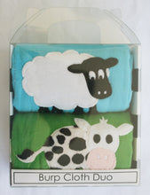 Load image into Gallery viewer, Dyed Burp Duo - Sheep & Cow