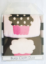 Load image into Gallery viewer, Dyed Burp Duo - Cupcakes