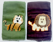 Load image into Gallery viewer, Dyed Burp Duo - Lion, Tiger