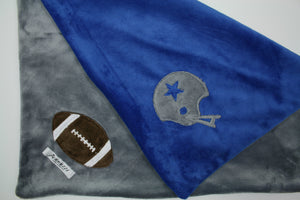 Football Helmet & Football Minky Blanket