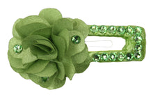 Load image into Gallery viewer, Swarovski Crystal Flower Snap Clip Barrette