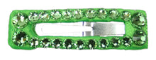 "Load image into Gallery viewer, Neon Swarovski Crystal Mini 1 1/2"" Snap Clip Barrette"