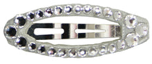 Load image into Gallery viewer, Swarovski Crystal Oval Snap Clip Barrette