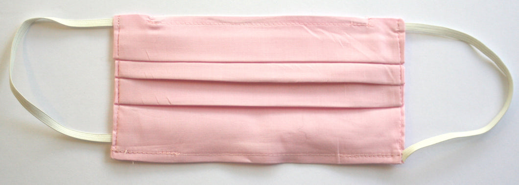 Pink Fabric Pleated Face Mask