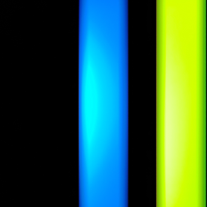 2 Color Strobe: Cyan/Lime Green