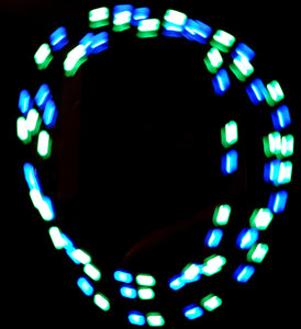 2-Color Strobe: Blue/Mint-Green