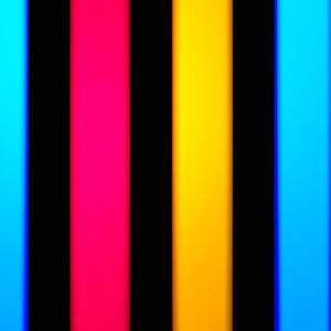 3 Color Strobe: Dark Red/Lemon Yellow/Blue