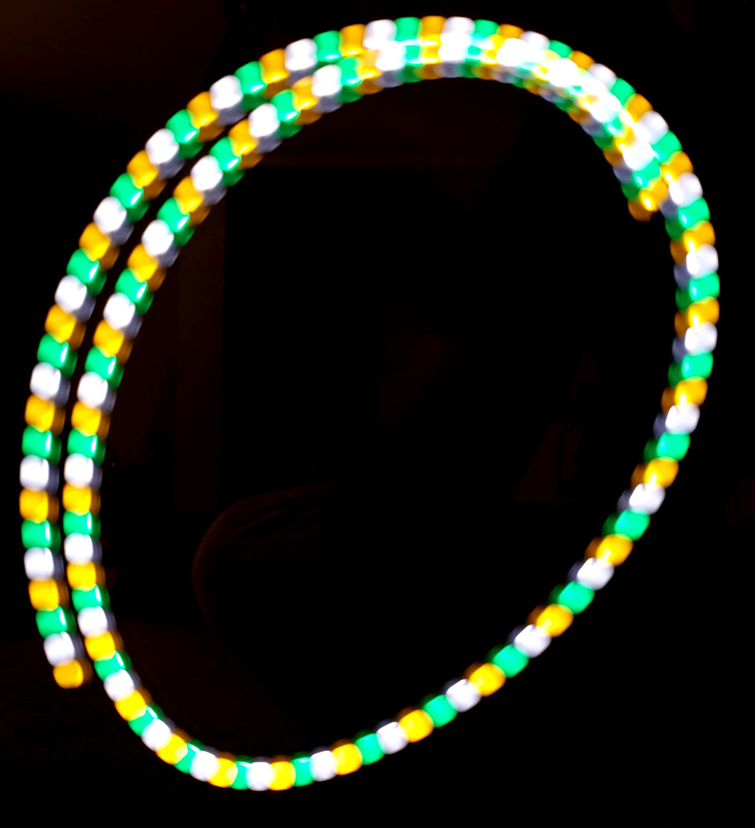 3-Color Strobe: Gold/White/Turquoise