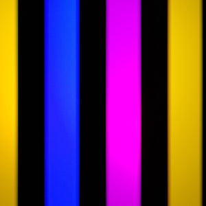3 Color Strobe: Lemon Yellow/Blue/Pink