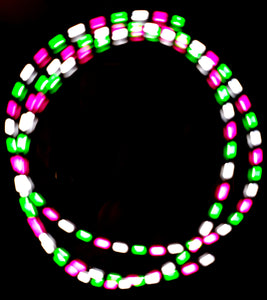 3-Color Strobe: Pink/White/Green