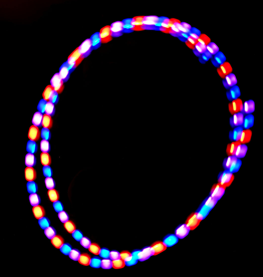 3-Color Strobe: Red/Violet/Blue