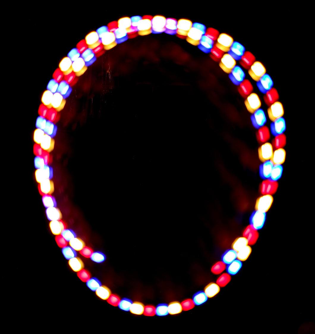 3 Color Strobe: Red/Warm White/Blue
