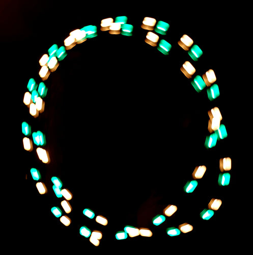 2-Color Strobe: Turquoise/Gold