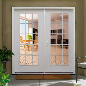 6' traditional french 15 lite doors