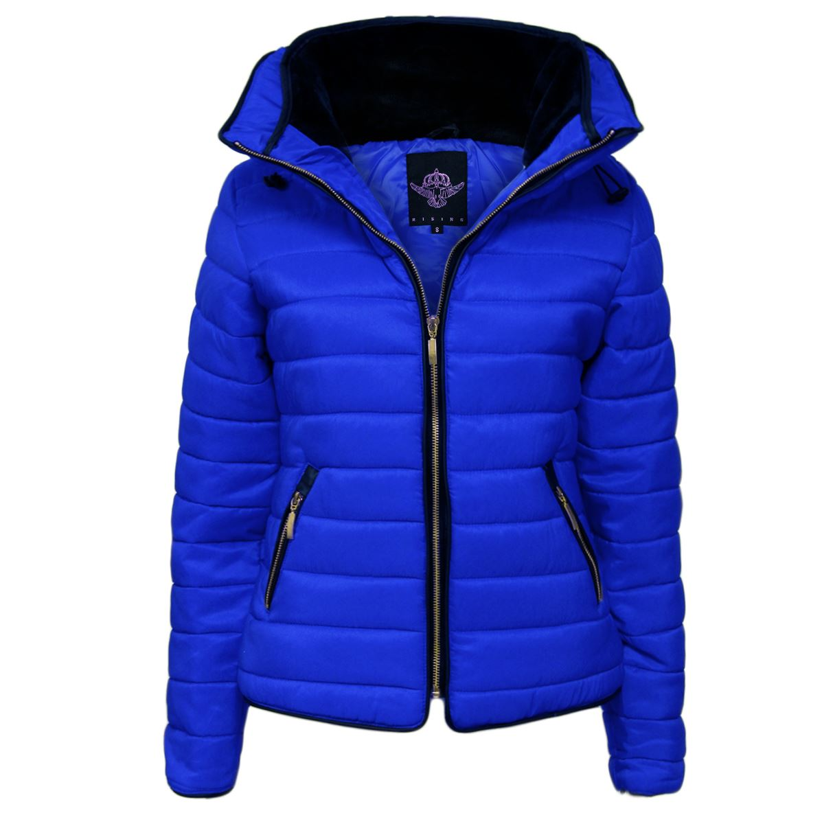 341d9f99405 New Ladies Womens Quilted Padded Puffer Bubble Fur Collar Warm Thick Jacket  Coat