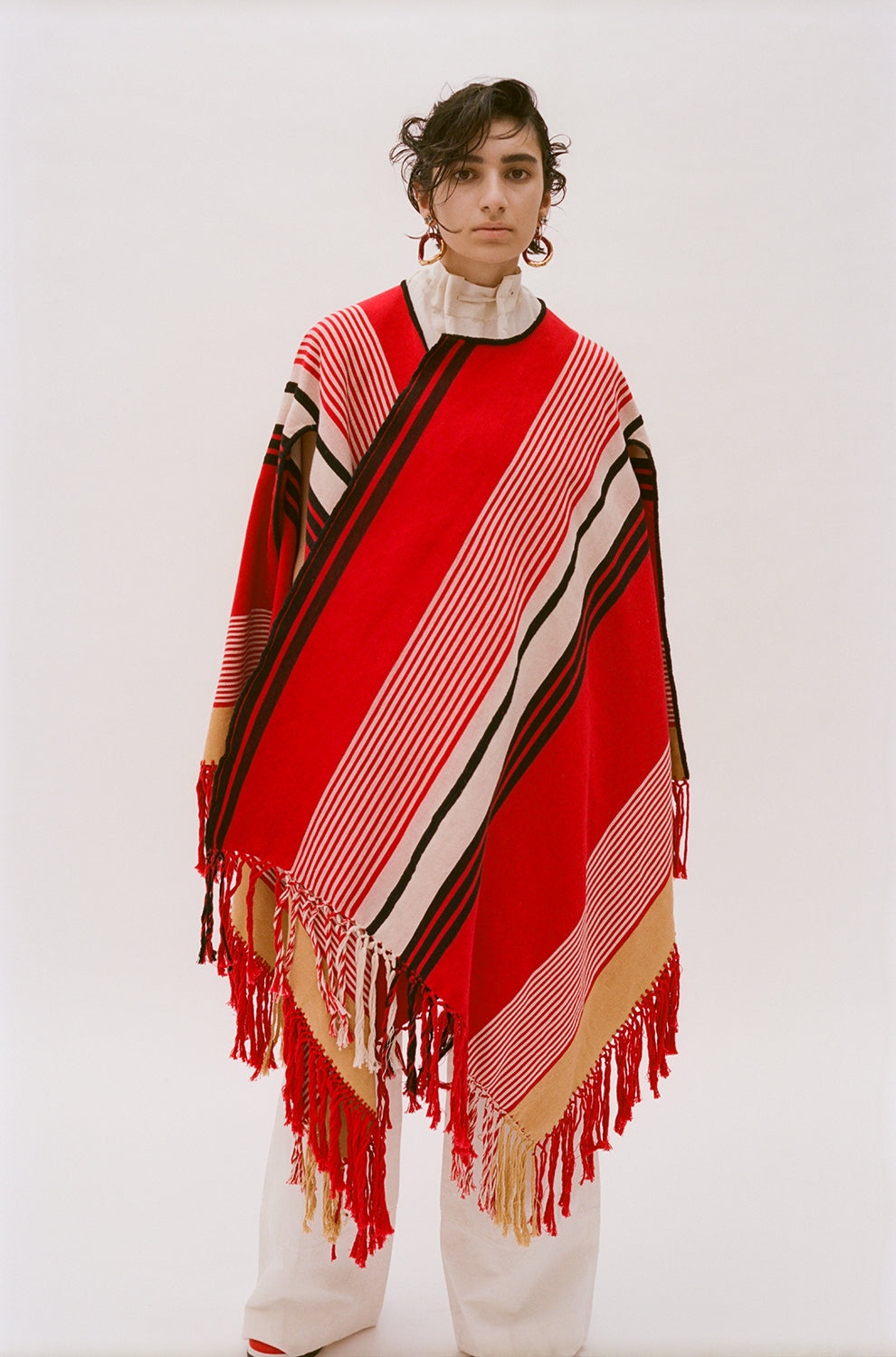 COLVILLE | PONCHO RED MULTI