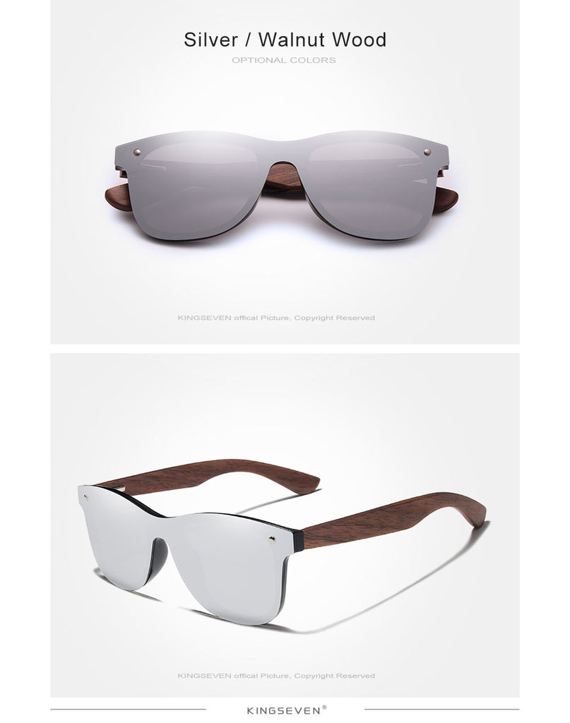 KINGSEVEN Handmade Walnut  Polarized  Sunglasses Men And Women