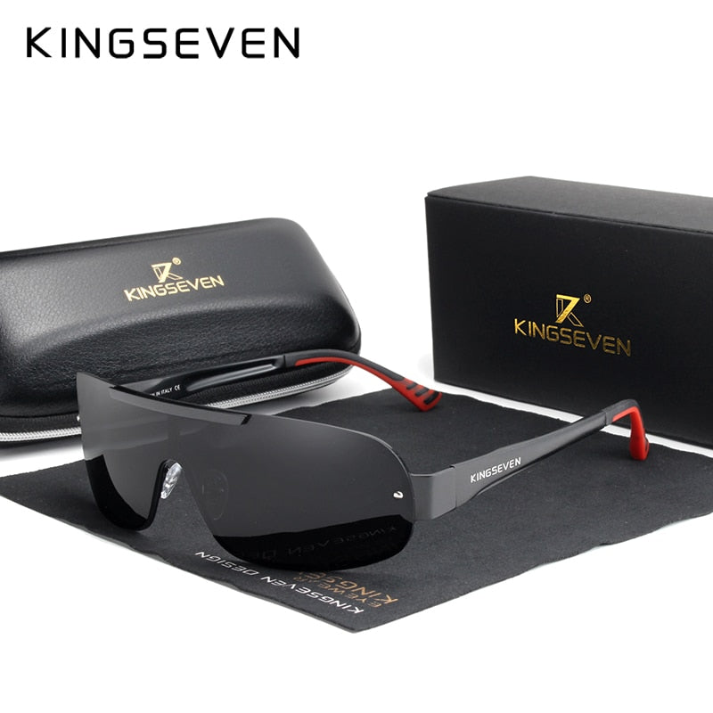 KINGSEVEN Design New Aluminum Men Brand Sunglasses HD Polarized