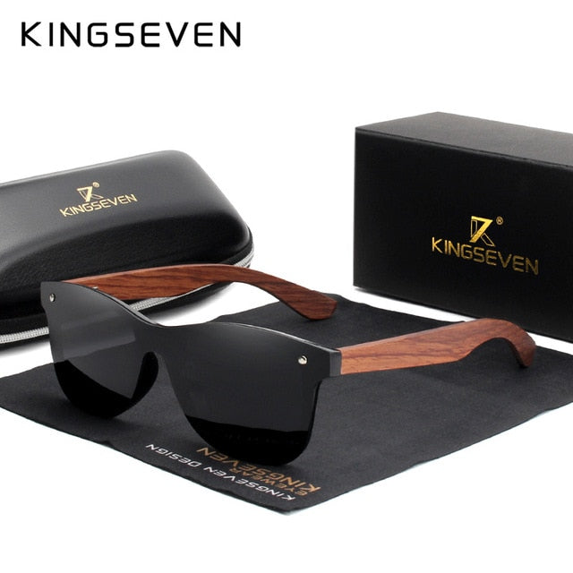 KINGSEVEN Natural Wooden Sunglasses Men and Women Polarized