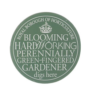 Wall Plaque 'Hard Working Gardener digs Here..' - Quirky Giftz Ltd
