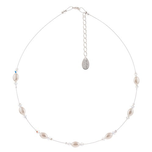 Carrie Elspeth Pearl & Crystal Bridal Necklace - Quirky Giftz Ltd