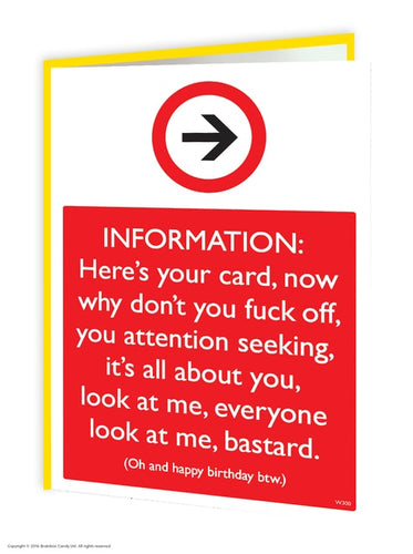 Information Here's Your Card... - Quirky Giftz Ltd