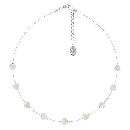 Carrie Elspeth Shell Hearts Spaced Necklace - Quirky Giftz Ltd