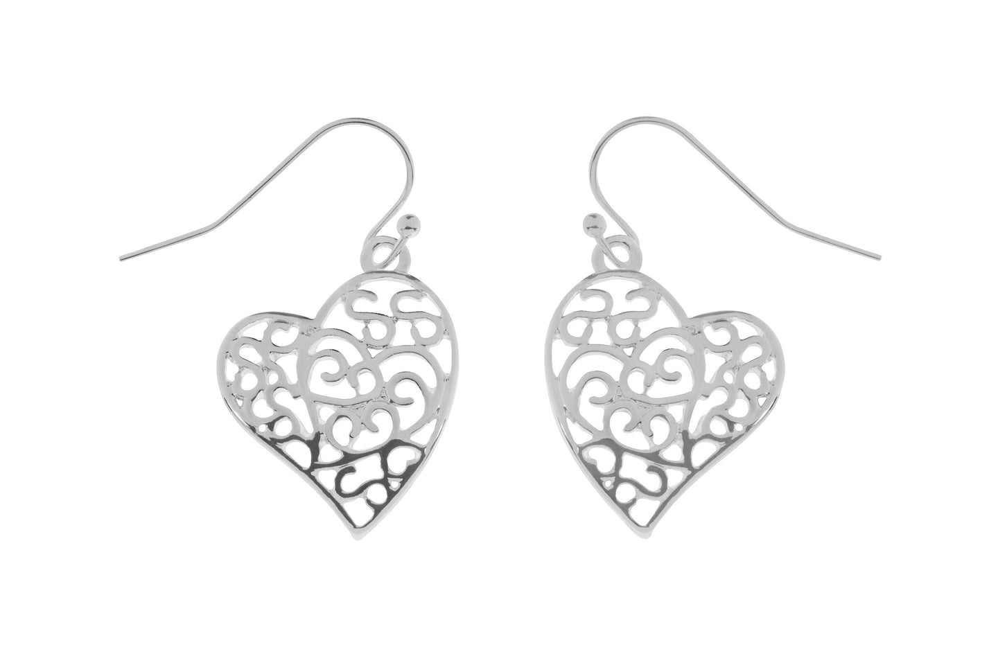 Beautiful Hook Heart Earrings - Quirky Giftz Ltd