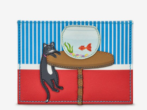 Leather Cat And Fish Academy Card Holder - Quirky Giftz Ltd